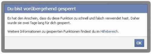 Facebook-Sperre - Für größere Ansicht klicken